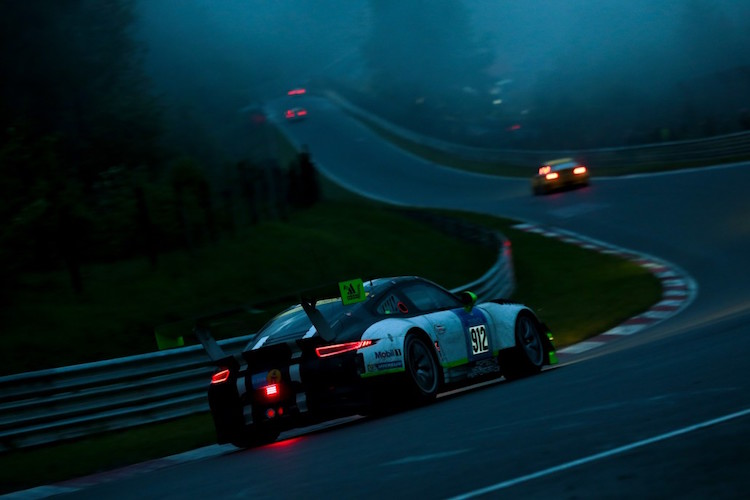 The #912 Porsche remains in the hunt as the race reaches its final hours (Credit: Gruppe C)