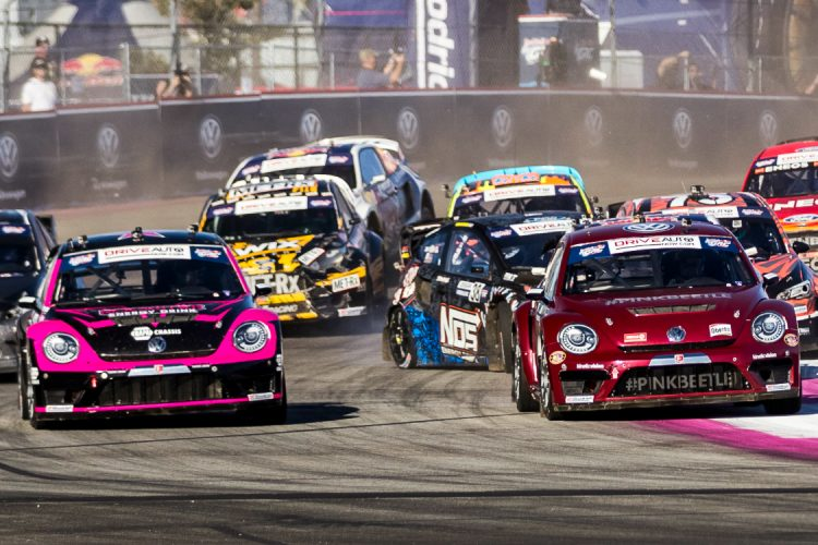 Pretty in Pink: Both VARX drivers now have four wins apiece in 2016 - Credit: Chris Tedesco/Red Bull Content Pool