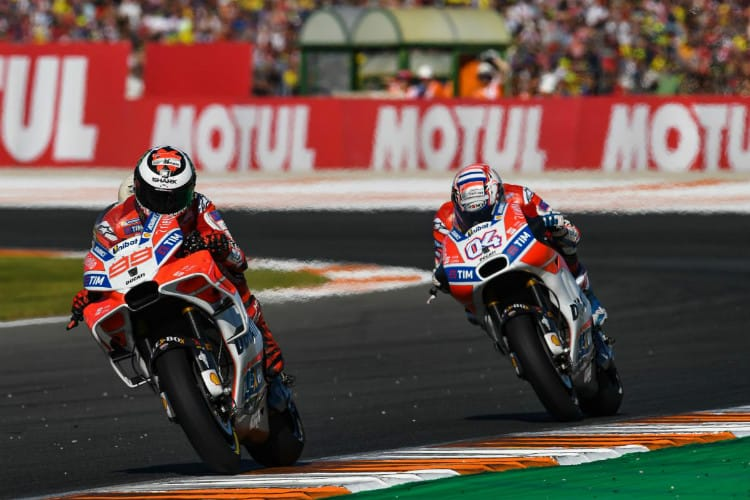 Jorge Lorenzo and Andrea Dovizioso - MotoGP