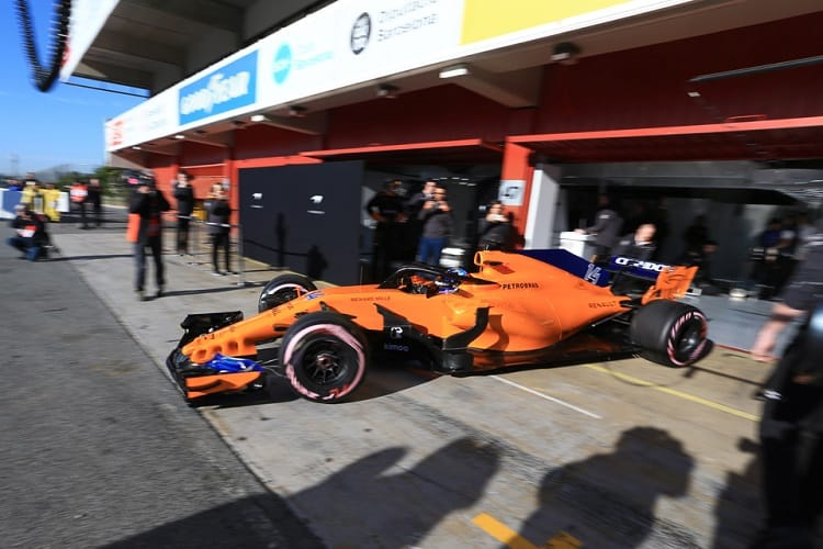 Fernando Alonso completed 93 laps despite his mechanics changing his engine during Fridays running