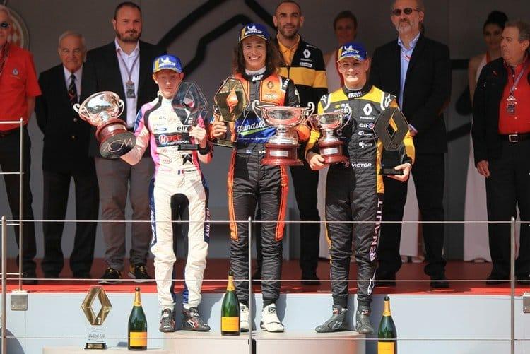 Alex Peroni, Charles Milesi, Victor Martins- FR 2.0 Eurocup Monaco Race 1 Podium