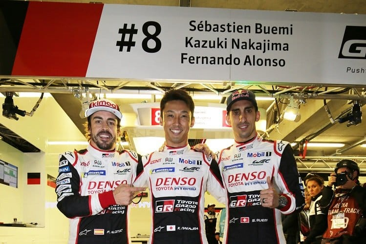 Kazuki Nakajima secured overall pole for the #8 Toyota Gazoo Racing with a 3:15.377