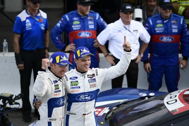 Joey Hand & Dirk Muller- Chip Ganassi Racing Ford GT- Lime Rock Park