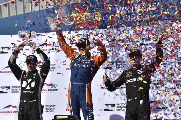 IndyCar 2018, Toronto Podium, Scott Dixon, Robert Wickens, Simon Pagenaud