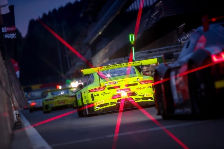 Manthey-Racing, Porsche 911 GT3 R (911), Romain Dumas (F), Frederic Makowiecki (F), Dirk Werner (D), Spa-Francorchamps 2018