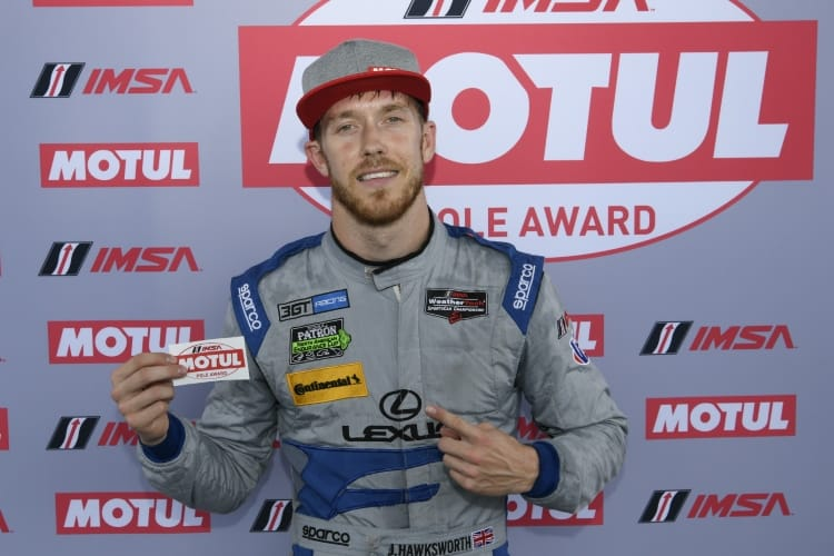 #15 3GT Racing Lexus RCF GT3, GTD: Jack Hawksworth captures pole position.