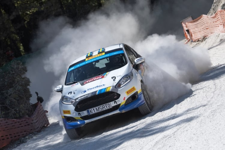Emil Bergkvist (SWE) performs during FIA World Rally Championship 2018 in Marmaris, Turkey on September 16, 2018