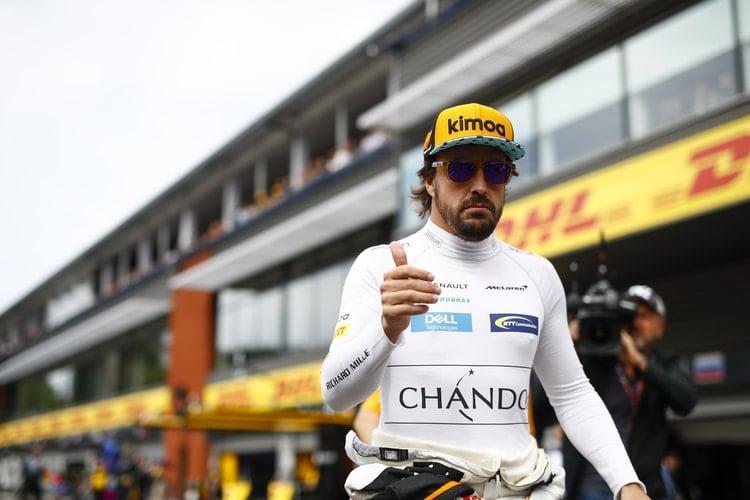 Fernando Alonso, McLaren-Renault, Monza Paddock