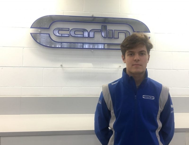 Felipe Drugovich - Carlin Buzz Racing at the team's HQ.