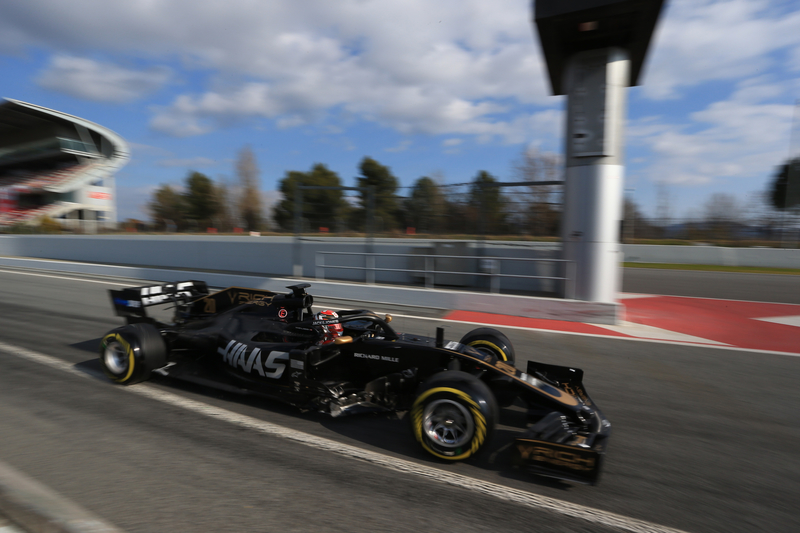 Formula 1 – Winter Testing - Test 1 - Day 2. Rich Energy Haas F1 Team VF19 – Kevin Magnussen. Circuit de Barcelona-Catalunya. Tuesday 19th February 2019.