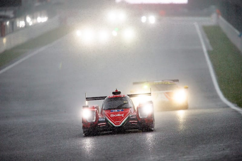 Maiden LMP2 winners in the #31 DragonSpeed, Pastor Maldonado, Anthony Davidson and Roberto González.