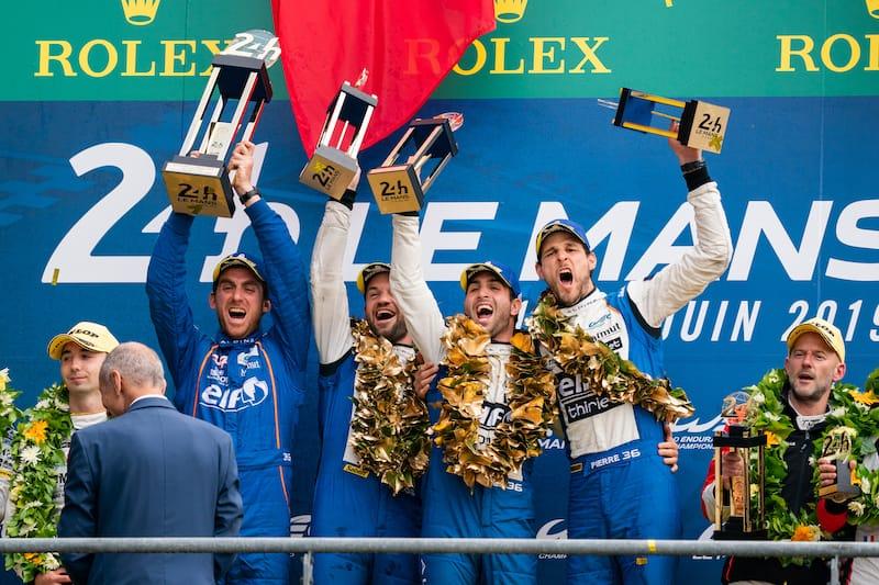 Signatech Apline winning on podium