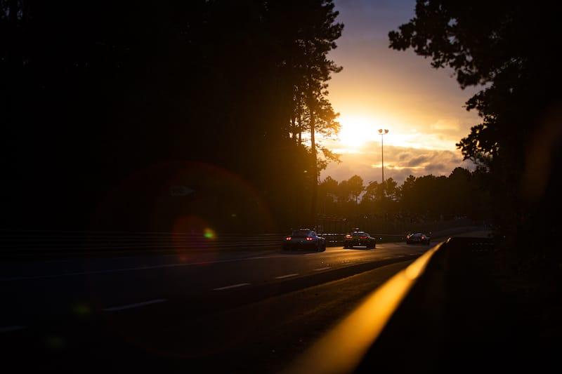 GTs driving at Sunset