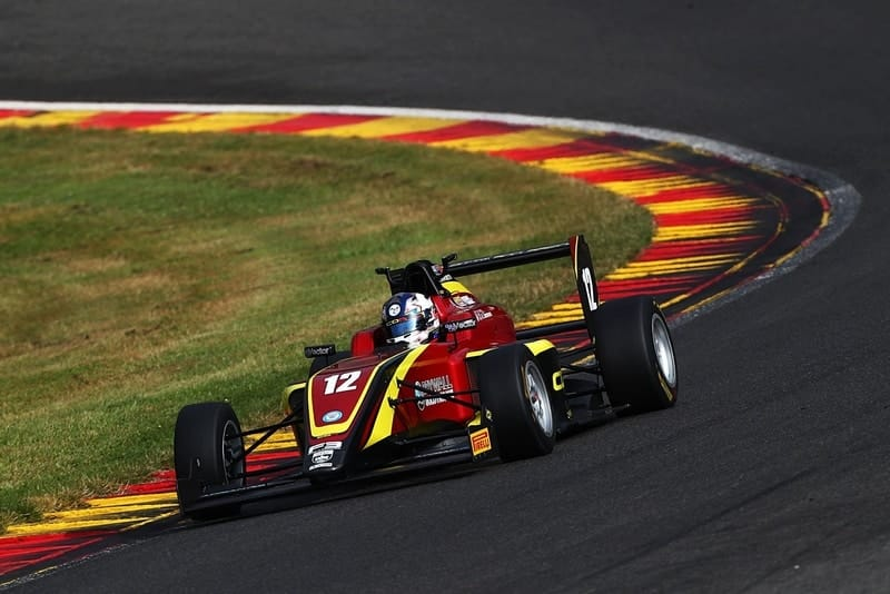 Ayrton Simmons on his way to pole position at Spa Francorchamps