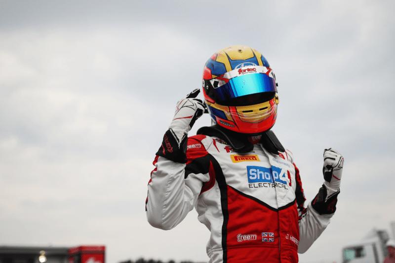 Johnathan Hoggard after winning at Donington Park