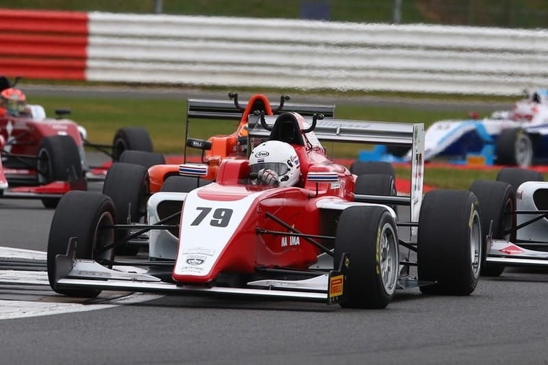 Sasakorn Chaimongkol on his way to his first podium of the year at Donington Park