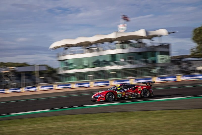 AF Corse on track at Silverstone for the four hour WEC event, 2019