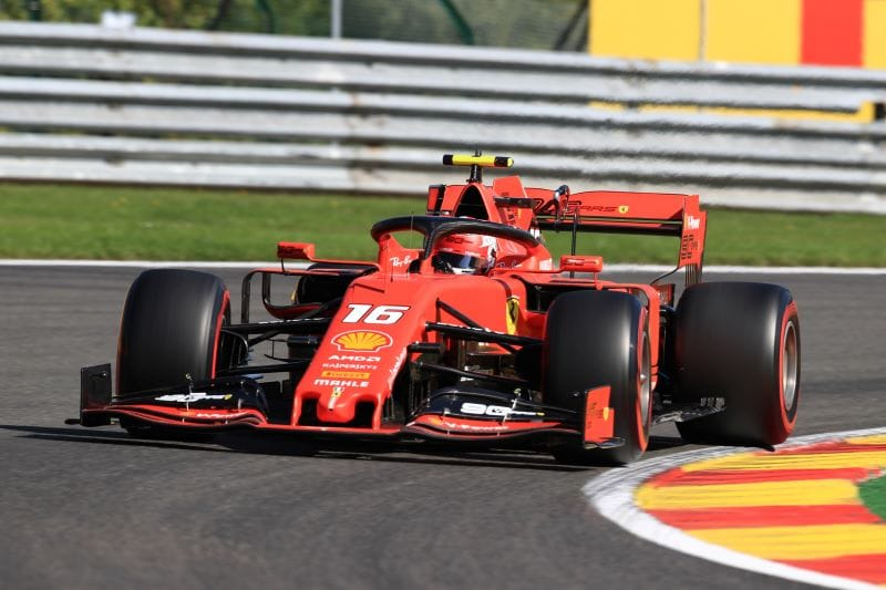Supreme Leclerc leads Ferrari 1-2 at Spa