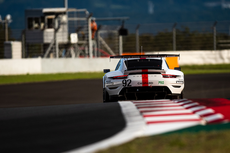 #92 Porsche GT Team on track from behind at Fuji Speedway, WEC 2019