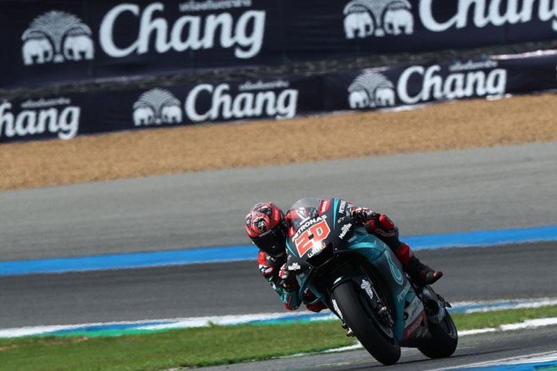 Quartararo breaks circuit record to take Thai GP Pole