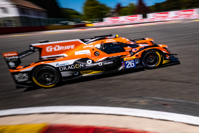 G-Drive Racing #26 on track in the sun at Spa-Francorchamps
