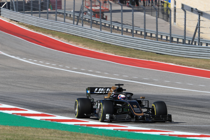 Romain Grosjean - Haas F1 Team in the 2019 Formula 1 United States Grand Prix - Circuit of the Americas - Race