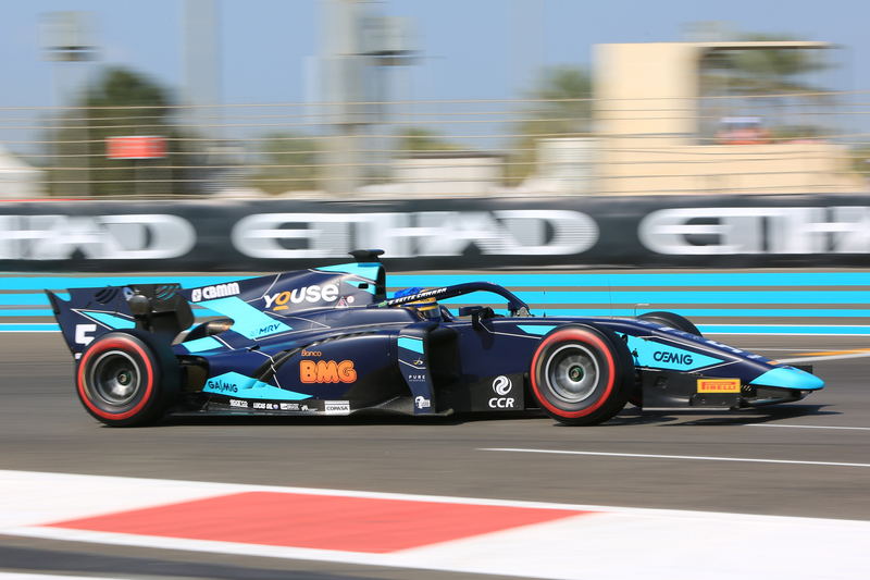 Sérgio Sette Câmara - DAMS in the 2019 FIA Formula 2 Championship - Yas Marina Circuit - Practice