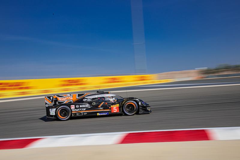#5 Team LNT Ginetta LMP1 car on track at Bahrain, 2019