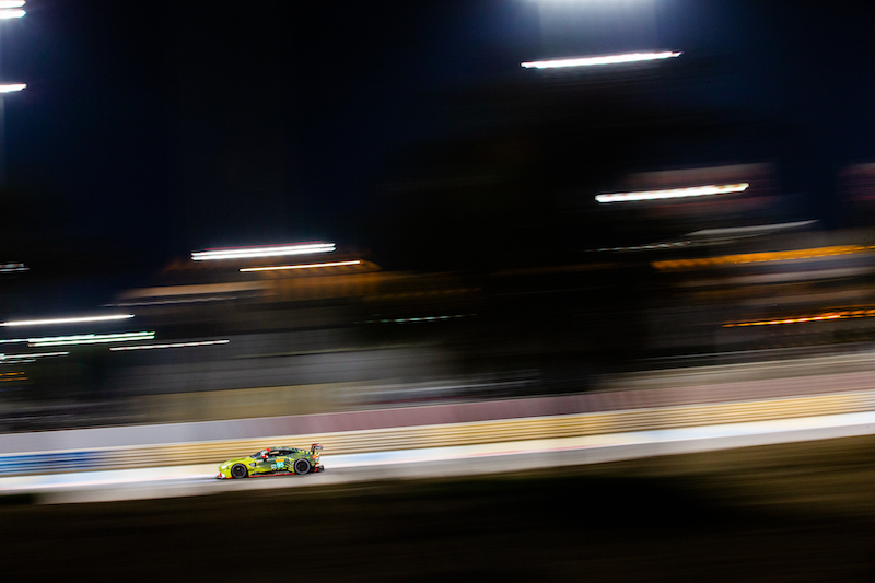 #95 Aston Martin Racing on track at Bapco 8 Hours of Bahrain, 2019