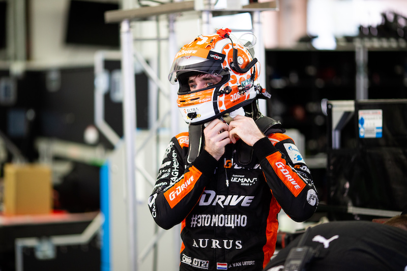 Job van Uitert getting ready to climb aboard the #92 Porsche GT Team car