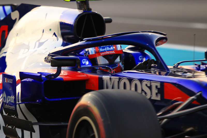 Pierre Gasly - Red Bull Toro Rosso Honda in the 2019 Formula 1 Abu Dhabi Grand Prix - Yas Marina Circuit - Qualifying