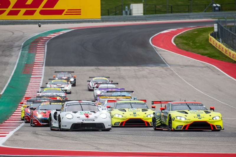 Start of the 2020 6 Hours of COTA, GTE field