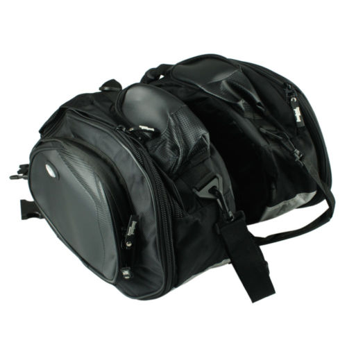 Black-Leather-Motorcycle-Universal-Saddle-Bags-Motorbike-Panniers-Luggage-Bag