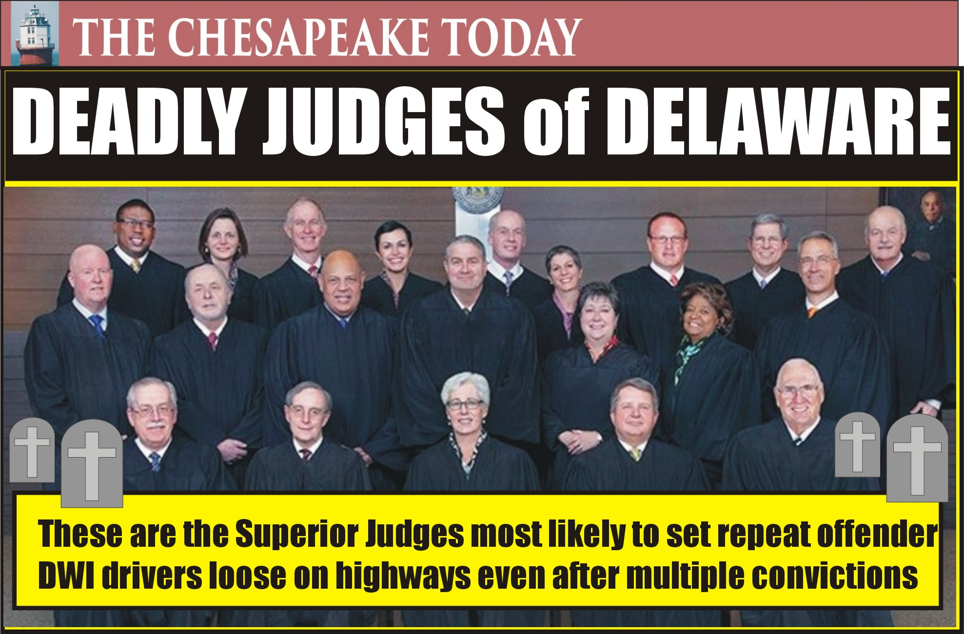 DWI HIT PARADE: Delaware's Lunatic Judges Won't Keep Career DUI Driver Maurice Baker Behind Bars; The Nitwit Judges Want him to Kill You and Your Family
