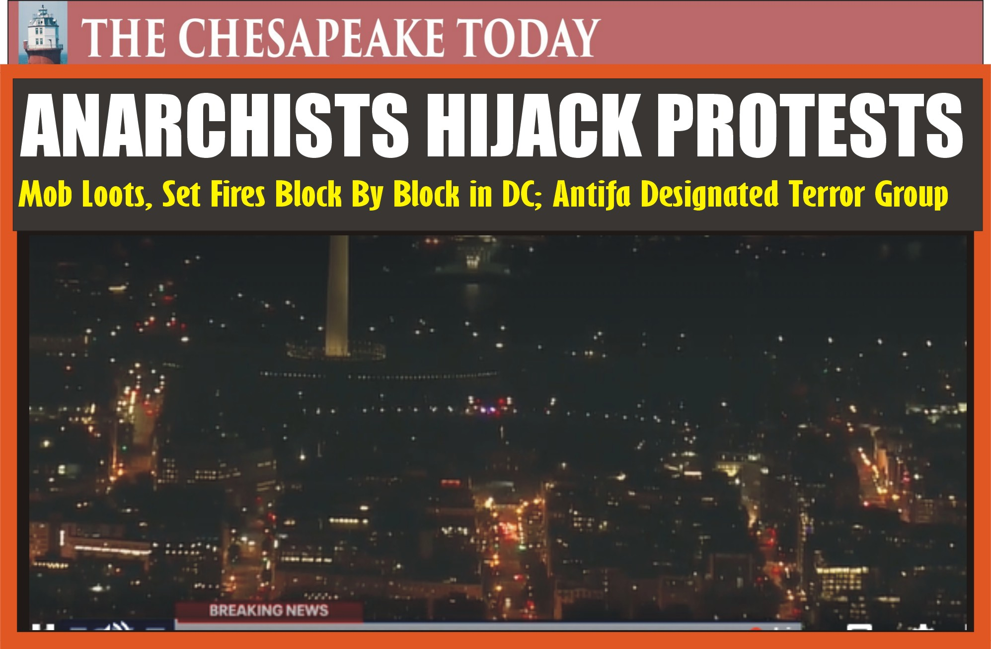 RIOT SQUAD: Mobs hijacked protest in DC; loot CVS drug store; spread prescriptions through streets; historic St. John's Church arson by terrorists in heart of DC was extinguished by DC Firefighters; AFL-CIO headquarters torched