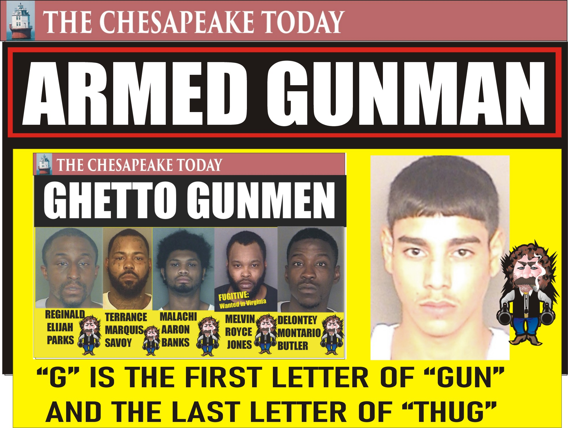 GHETTO GUNMEN: CRIME AND DECLINE: Nathan Allen Nabbed with Loaded Gun in Crime Town