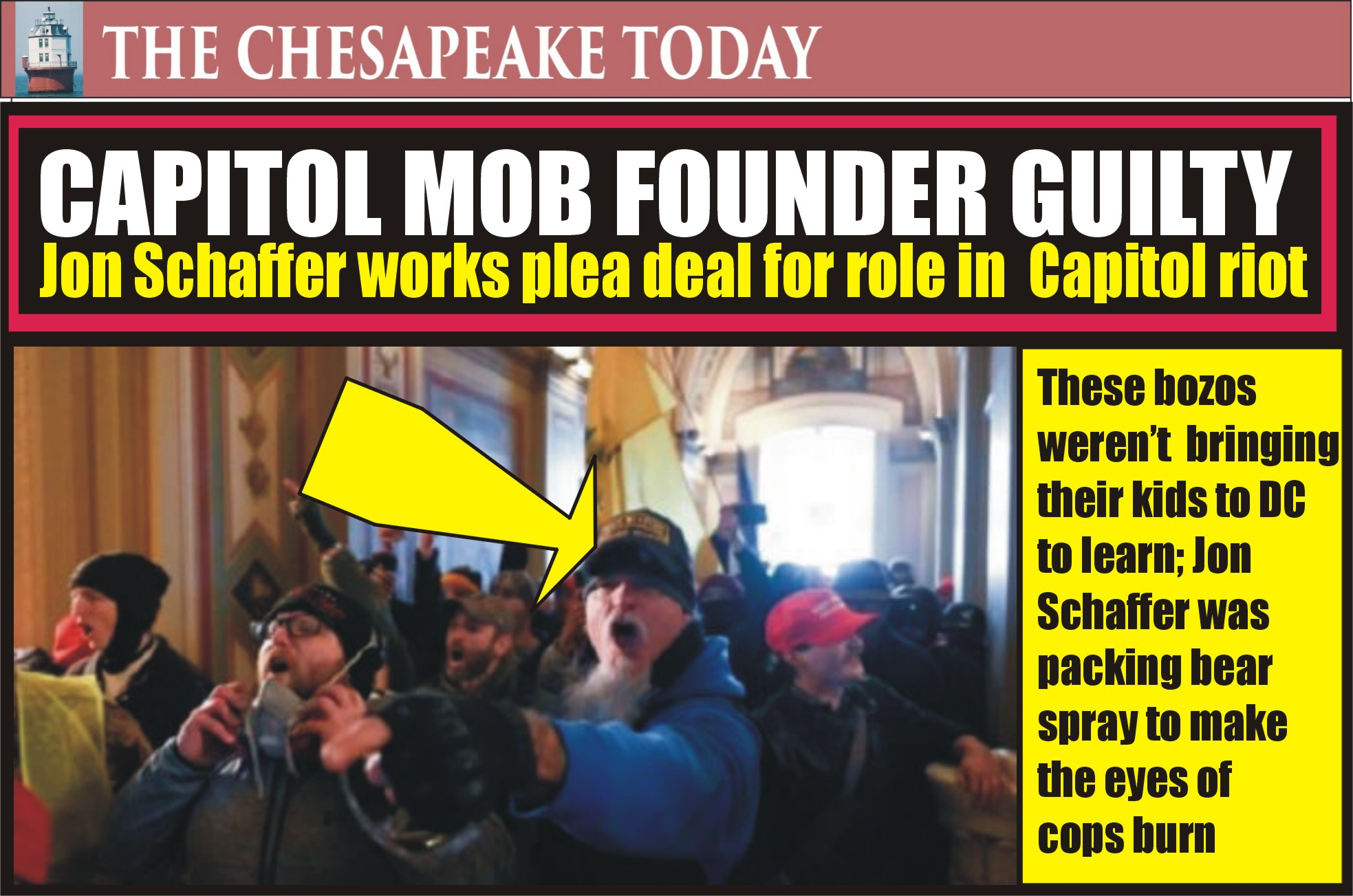 CAPITOL RIOT: Lifetime Founding Member of the Oath Keepers Jon Schaffer Pleads Guilty to Breaching Capitol on Jan. 6 to Obstruct Congressional Proceeding