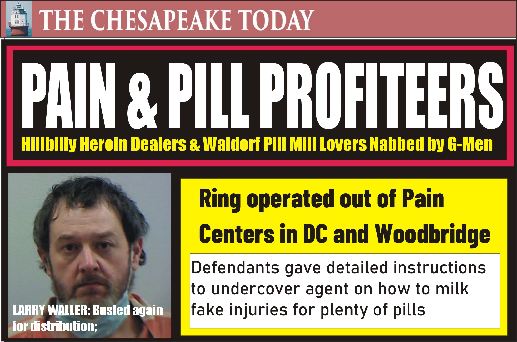 OPIOID PILL MILLS FUELED BY ROMANCE & GREED: Hillbilly Dealers Collude with Lovers Monica Clark and Michael Scott, say Feds