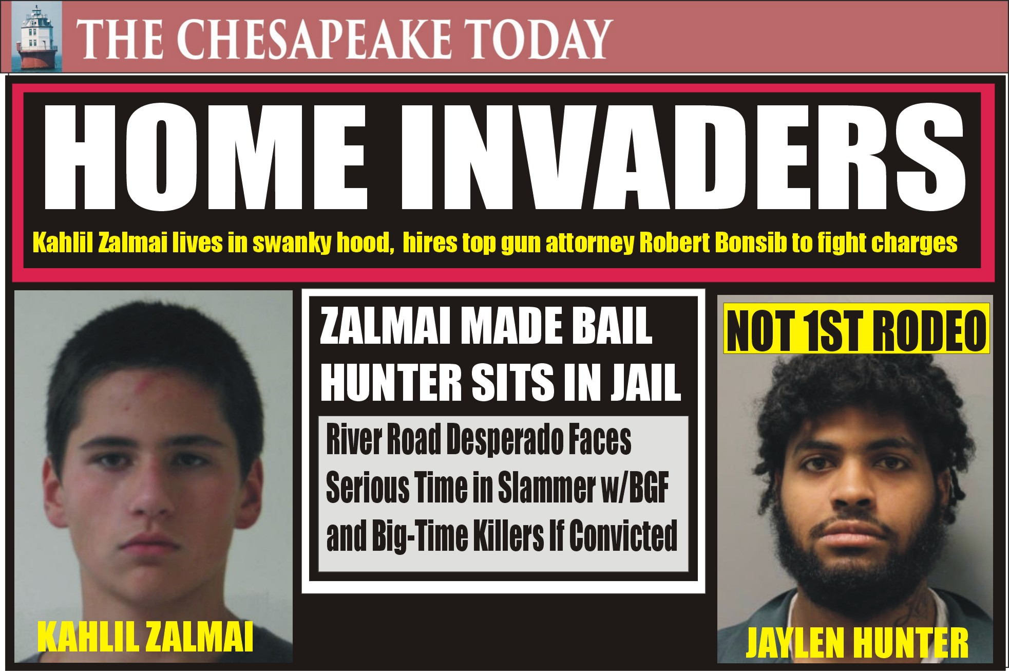 HOME INVASION: Affluent man living in great neighborhood loses his criminal cherry in alleged armed gang intrusion to a home; Khalil Zalmai hires top criminal lawyer Robert Bonsib
