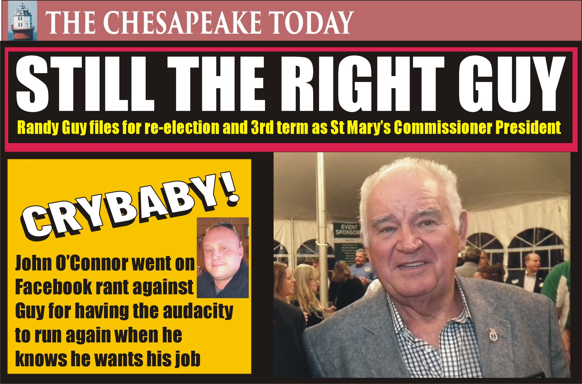 ELECTION 2022: St. Mary's County Commissioner President Randy Guy filed for a third term