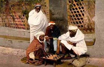 Algiers-Moors playing Chess.
