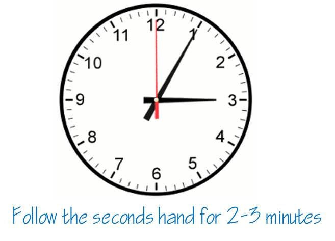 the seconds hand