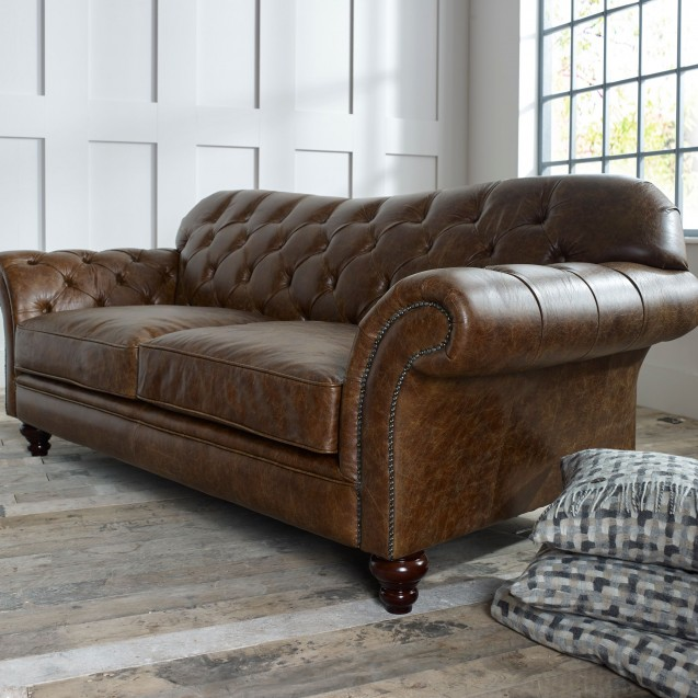 leather chesterfield sofas armchairs