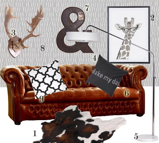 Chesterfield Sofa With Scandinavian Dcor The