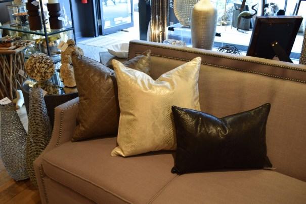 Metallic Fabric Pillows by Ryan Studio