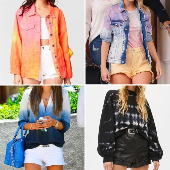 Giacca camicia felpa stampa tie dye shorts the chic jam