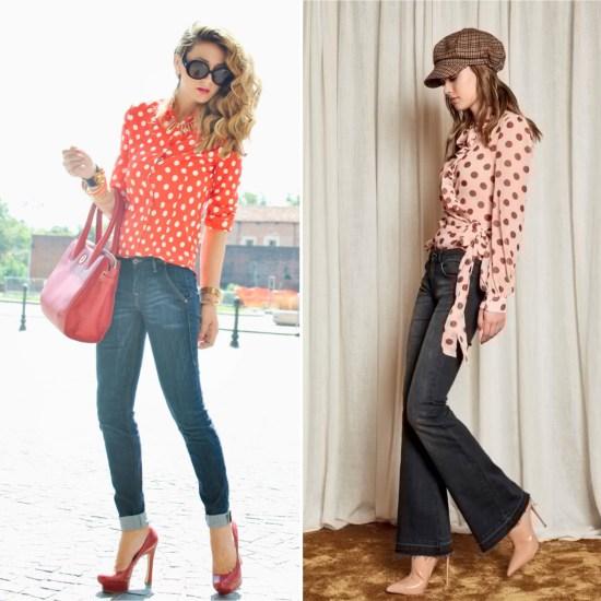 blusa pois jeans