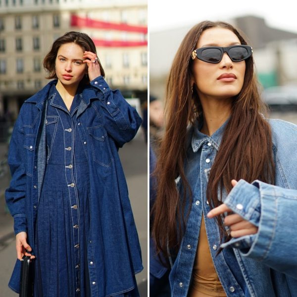 Denim jeans total look bella hadid fashion week the chic jam gmstyle