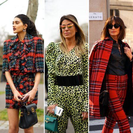 Tweed stampa animali tartan Fashion Week The Chic Jam