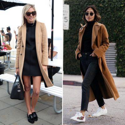total look nero black cappotto cammello The Chic Jam